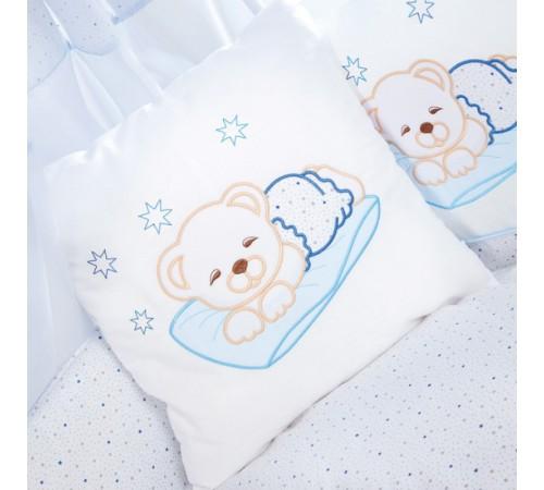 "klups h108 lenjerie de pat ""ursul adormit"" albastru (5 piese)"