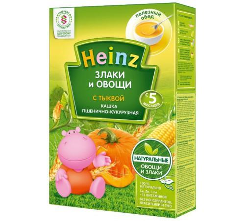 """heinz Пшенично-кукурузная кашка """"Злаки и овощи"""" без молока с тыквой (5m+)"""