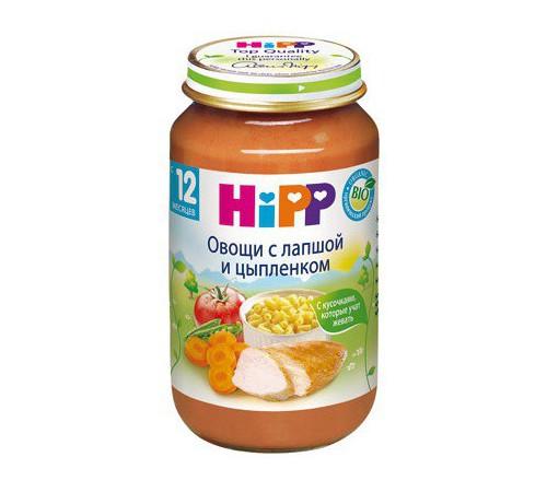 hipp 6803 legume cu taitei si carne de pui  220 гр.(12m+)
