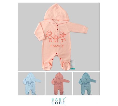 """Одежда для малышей в Молдове baby code 347023 Комбинезон """"family"""" (62-68-74 см.) в асс."""