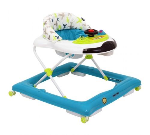 baby mix  bg-1626/g1 az-wt premergător cu volan albastru/alb