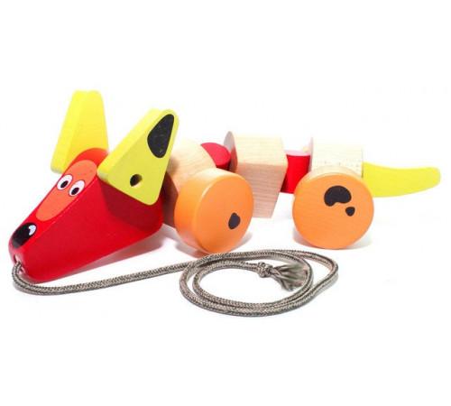 """Jucării pentru Copii - Magazin Online de Jucării ieftine in Chisinau Baby-Boom in Moldova cubika 13623 jucarie de tras din lemn """"câine"""""""