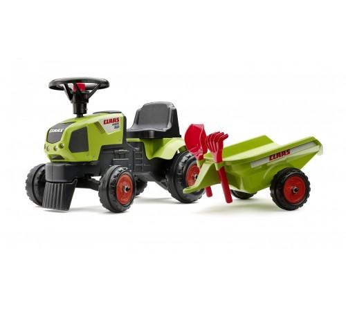 """falk 1012c Трактор с педалями и прицепом """"claas axos 310"""" зелёный"""