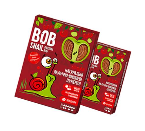Натуральные Яблочно-Вишнёвые Конфеты ТМ bob snail (Улитка БОБ) 60 г