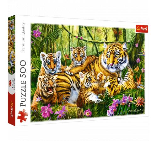 "trefl  37350 Пазлы ""Семья тигров"" (500 эл.)"