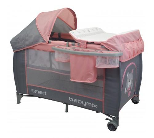 baby mix hr-8052-302 Манеж-кровать розовый