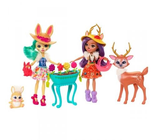 Набор из 2 кукол enchantimals с любимыми зверюшками fbg01