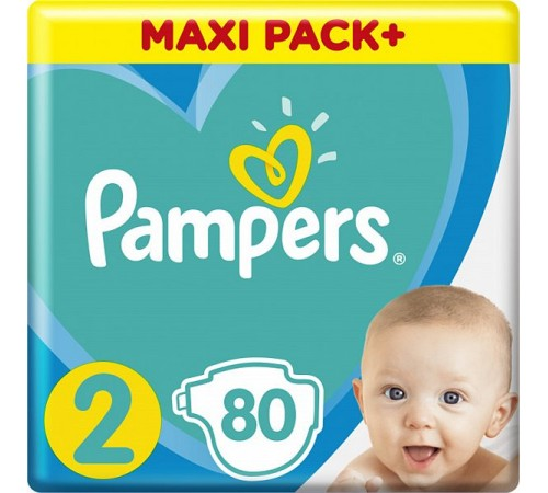 pampers new baby 2 (4-8 kg.) 80 buc.