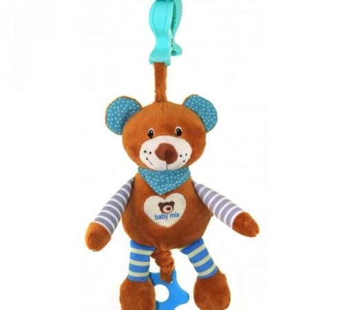 "baby mix stk-16393b Игрушка для путешествия ""Мишка"" голубой"