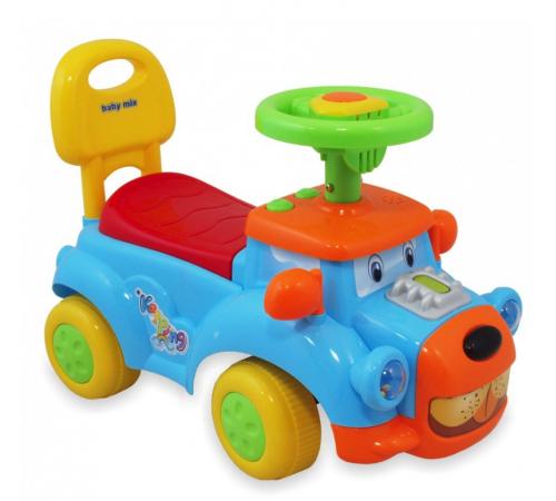 baby mix ur-hz554 Машина-собачка голубая