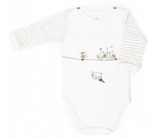 """Одежда для малышей в Молдове veres 102-3.78-1.74 Боди """"funy sparrows strip"""" (р.74)"""