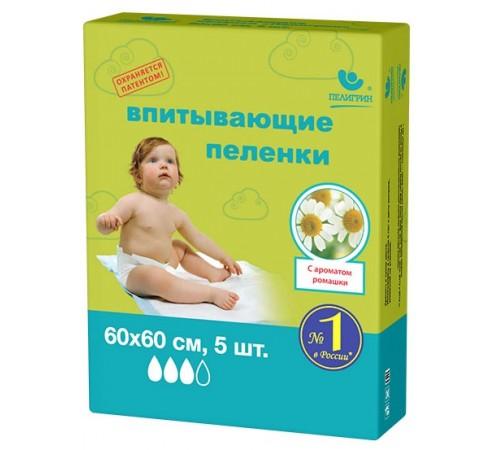 "Пелигрин Пеленки ""Ромашка"" (60х60 см.) 5 шт."