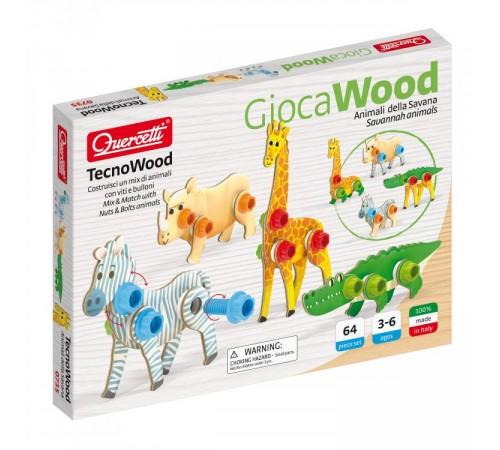 "Jucării pentru Copii - Magazin Online de Jucării ieftine in Chisinau Baby-Boom in Moldova quercetti 735 animale ""tecno wood"" (64 el.)"