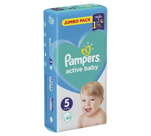 pampers active baby 5 (11-16 кг.) 60 шт.