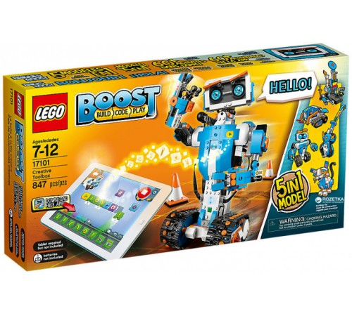 """lego boost 17101 Конструктор """"Набор для конструирования и программирования"""" (847 дет.)"""