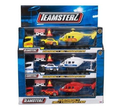Jucării pentru Copii - Magazin Online de Jucării ieftine in Chisinau Baby-Boom in Moldova teamsterz 1373618.18 transportator cu mașină și elicopter în sort.