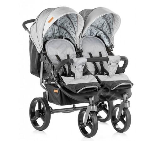 Детские коляски в Молдове chipolino Коляска для двойни twix kbtx01802as серый