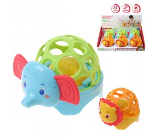 Jucării pentru Copii - Magazin Online de Jucării ieftine in Chisinau Baby-Boom in Moldova op МЛЕ1.118 zornăitoare-minge elephant/leu în sort.
