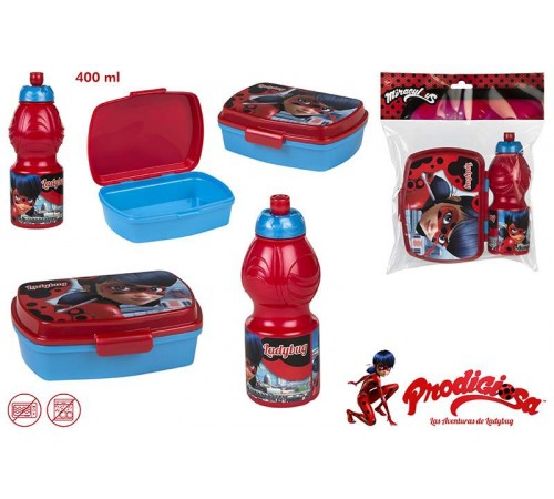colour baby 76822 sandwich kit + sticlă pentru sport 400ml