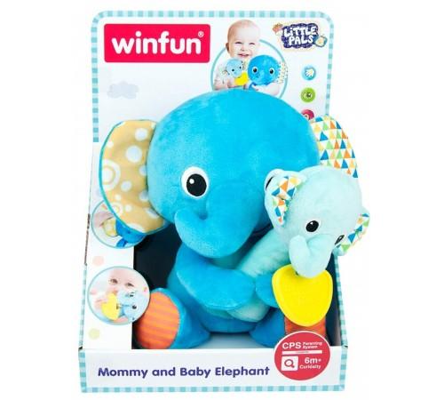 "winfun 46304 Плюшевая игрушка ""Мама и Ребенок Слон"""