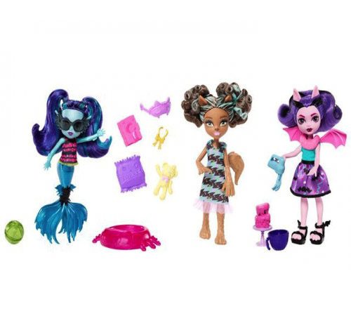 "fcv65 Кукла""Монстро-сестричка"" серии ""Монстро-семейка"" monster high в асс.(3)"