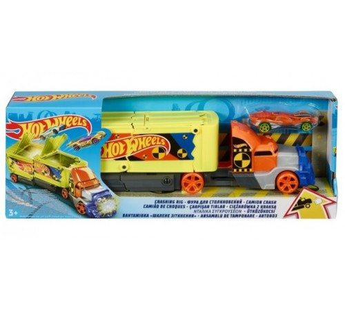 "hot wheels gck39 Сamion ""coliziune crazy"""