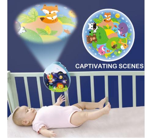 hola toys1105 Карусель для кровати с проектором
