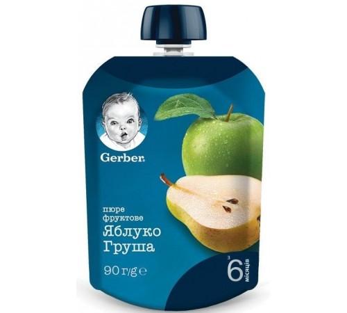 gerber Пюре «Яблоко-груша» 90 гр. (6+)