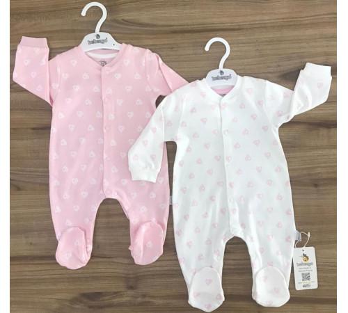 """Одежда для малышей в Молдове bebengo tk 3064 Боди """"Сердечки"""" (56-62-68 см.) в асс."""