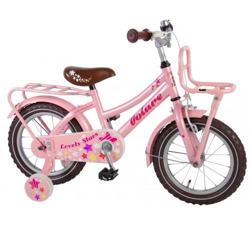 "volare 81426 Велосипед ""lovely stars 14"" розовый"