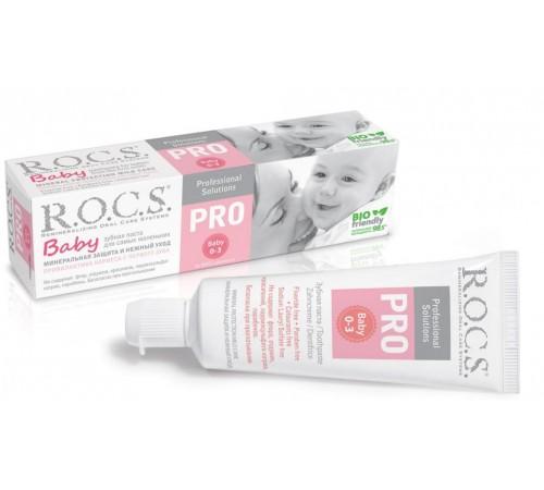 """r.o.c.s. Зубная паста для малышей """"pro""""(0-3) 472504"""