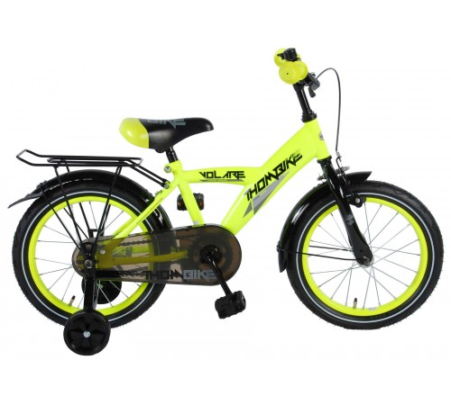 """volare 81617 Велосипед  """"thombike 16"""" чёрный/желтый"""