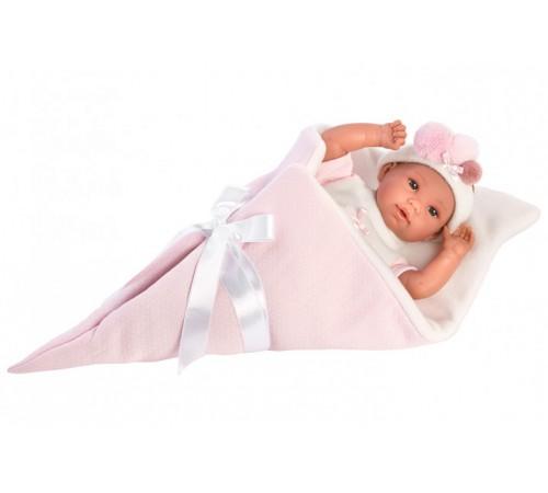 llorens Интерактивная кукла в розовом пледе 63632 (37 см.)