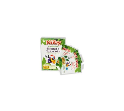 nuby cg40040frge Натуральные антибактериальные салфетки (40 шт.)