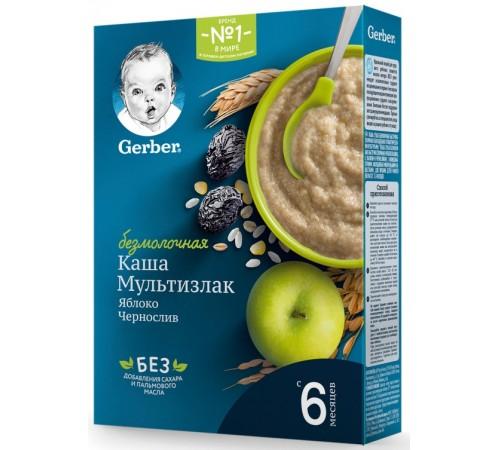 gerber terci fără lapte multecereale cu mere-prune uscate 180 gr. (6m +)