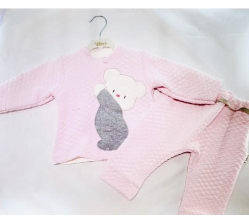 """Одежда для малышей в Молдове flexi 217348 Костюм """"Заяц"""" в асс. (серый/ голубой) 0-12 мес."""