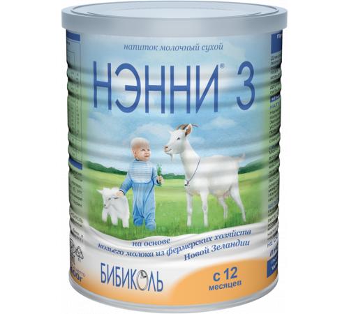 """Детское питание в Молдове Нэнни """" 3 с пребиотиками (12 м.+) 800 гр."""