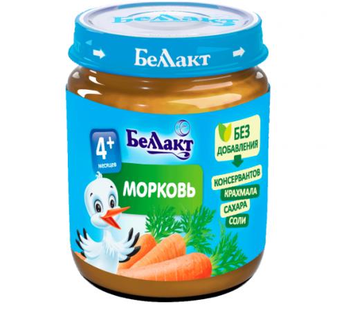Беллакт Пюре из моркови 100 гр. (4 м. +)