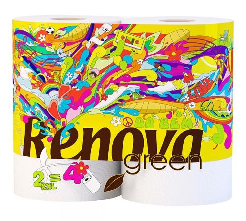 renova Полотенца Бумажные green xxl (2) белые 8011150