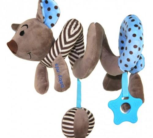 "baby mix  stk-16433b Спираль для коляски ""Мышка"" голубая"