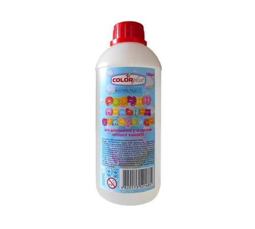 Детскиймагазин в Кишиневе в Молдове colorplast 1685 Доливка для мыльных пузырей (500 мл.)