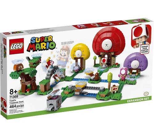 """lego super mario 71368 Конструктор """"Погоня за сокровищами Тоада"""" (464 дет.)"""