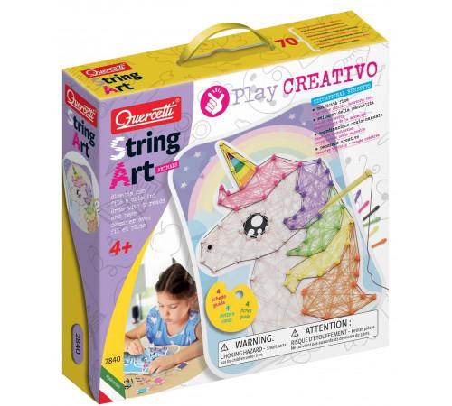 "quercetti 2840 play set pentru creativitate  string art ""animals"""