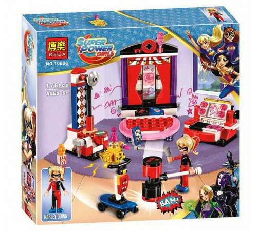 "bela РД02.143 constructor ""super power girls""  casa harley quinn (178 el.)"