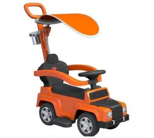 baby mix ur-hz635 Машина-толокар 2в1 с ручкой оранжевый