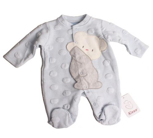 """Одежда для малышей в Молдове flexi 213651 Комбинезон """"Мишка"""" голубой (0-12 мес.)"""