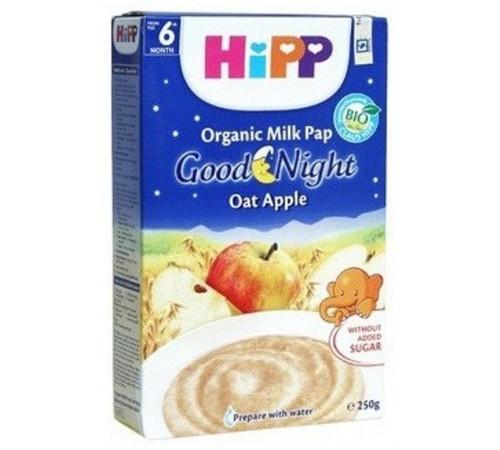"""hipp 3331 Молочная каша рисовая с яблоками """"Спокойной Ночи"""" (4m+) 250 гр."""