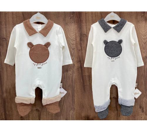 Одежда для малышей в Молдове flexi 213743 Комбинезон хлопок для мальчика (р.56-62-68) в асс.