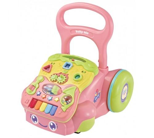 baby mix gw-6218a premergator cu panoul educativ roz