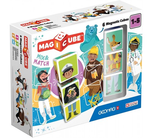 "geomag 123 Магнитные кубики ""magicube mix & match"" (6 шт.)"